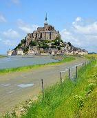 picture of mont saint michel  - View of the Mont Saint Michele - JPG