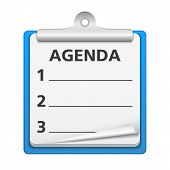picture of clipboard  - Clipboard with agenda  - JPG