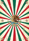 picture of mexican fiesta  - retro mexican sunbeams poster - JPG