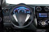 picture of steers  - steering wheel in the new modern car - JPG