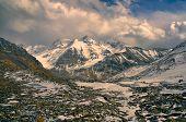 stock photo of karakoram  - Scenic rocky valley in Pamir mountains in Tajikistan - JPG