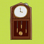 stock photo of nursery rhyme  - Mouse on top of antique clock with blank face - JPG