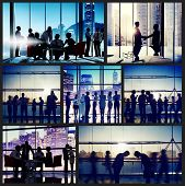 stock photo of eastern culture  - Business People Corporate Office Work Cityscape Concept - JPG