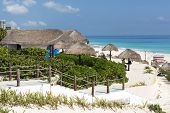 pic of yucatan  - A view of Playa Delfines in Cancun - JPG