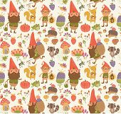 pic of gnome  - Cute picture of a gnome garden and flowers - JPG