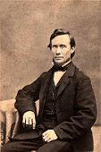 Vintage Photo 1879 of a President Lincoln Look-Alike Man