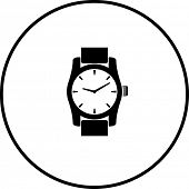 stock photo of wrist  - wrist watch symbol - JPG