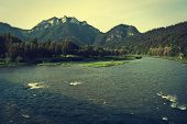 image of pieniny  - Three Crowns mountain in Pieniny Poland  - JPG