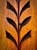 picture of carving  - traditional folk art carved pattern on wood - JPG