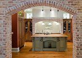 image of opulence  - Expensive kitchen in Tuscan style - JPG