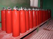 foto of fire extinguishers  - Plant for the production of fire extinguishers - JPG