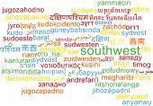 pic of southwest  - Background concept wordcloud multilanguage international many language illustration of southwest - JPG