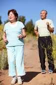 picture of hairline  - Senior couple jogging - JPG