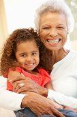 foto of granddaughters  - Senior African American woman and granddaughter - JPG
