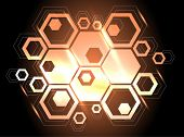 stock photo of honeycomb  - vector background with honeycomb - JPG