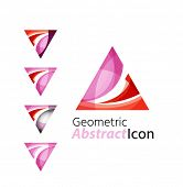 pic of universal sign  - Set of abstract geometric company logo triangle - JPG