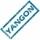foto of yangon  - Blue rubber stamp with city name Yangon - JPG