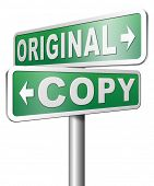 image of plagiarism  - original copycat cheap and bad copy or unique top quality product guaranteed  - JPG