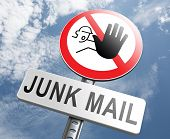 image of spam  - stop junk mail and spam - JPG