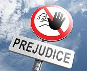 stock photo of racial discrimination  - no prejudice - JPG