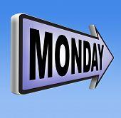 foto of monday  - Monday sign event calendar - JPG