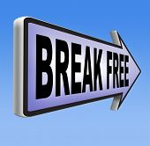 foto of quit  - break free from prison pressure or quit job running away towards stress free world no rules