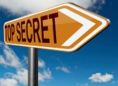 picture of top-secret  - top secret file confidential and classified secrecy restricted information - JPG