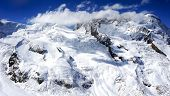 pic of snow clouds  - snow mountains with sky clouds zermatt switzerland