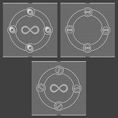 picture of infinity symbol  - Set of three flat frames and infinity symbol - JPG