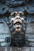picture of munich residence  - The famous lion muzzle at the Residenz - JPG