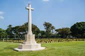 picture of cemetery  - Allied War Cemetery at Kanchanaburi of Thailand - JPG