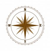 foto of compass rose  - Compass rose - JPG