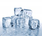 pic of ice-cubes  - Ice cubes - JPG