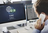 Loan Banking Capital Debt Economy Money Borrow Concept poster