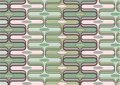 Retro Curves Dark Green And Soft Pink (Vector) - Illustrated Background poster