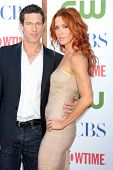 LOS ANGELES - AUG 3:  Dylan Walsh, Poppy Montgomery arriving at the CBS TCA Summer 2011 All Star Par