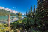 Jasper National Park, Spirit Island In Maligne Lake, Alberta, Canada. poster