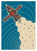 Set Of Vintage Space Banners. Galaxy Poster In Retro Style. Planets And Universe, Astronaut Or Astro poster
