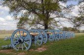 image of cannon  - Revolutionary War cannons on display at Valley Forge National Historical Park,Pennsylvania,USA.