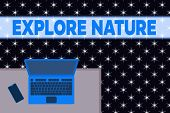 Word Writing Text Explore Nature. Business Concept For Reserve Campsite Conservation Expedition Safa poster