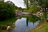 An Old Grain Mill On The Grab River Near The Town Of Sinj In Croatia/ Old Grain Mill On The Amazing  poster