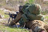Israeli Soldiers Training, IDF -  Israeli army military combat training, June, 2018, Israel poster