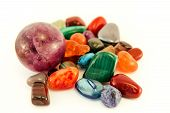 Semi Precious Stones / Crystal Stone Types / Healing Stones, Worry Stones, Palm Stones, Ponder Stone poster