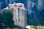 meteora is included in the UNESCO World Heritage Site. Meteora is a big monastery complex including  poster