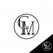 Creative Modern Elegant Trendy Unique Artistic Cm Initial Based Letter Icon Logo, Cm Letter Vector L poster