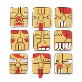 foto of micro-sim  - Set of sim card inspired facial expressions cartoons - JPG