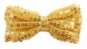 stock photo of bow tie hair  - Golden bow tie - JPG