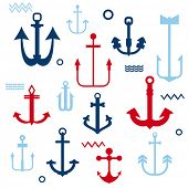 stock photo of anchor  - Various Anchor Collection  - JPG