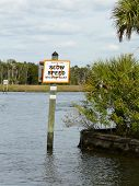Manatee Zone Sign
