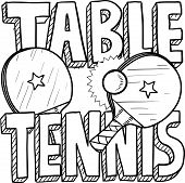 Table tennis sketch